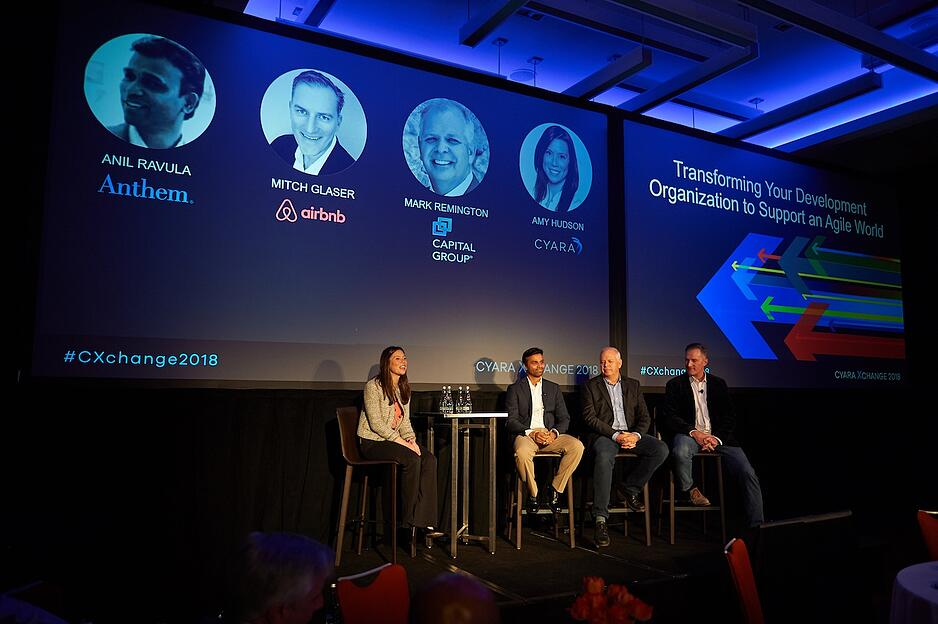 A panel discussion about going Agile at Cyara Xchange 2018